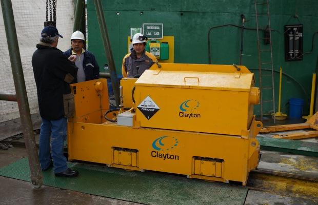 Clayton Equipment Battery Locomotive