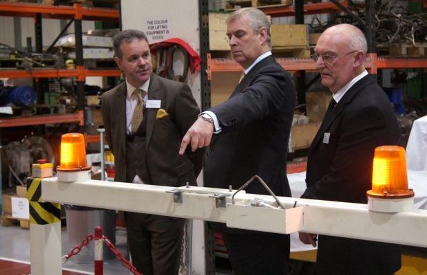 HRH Duke Of York Visit To Clayton Equipment