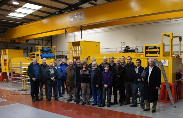 Members Of The Steeple Grange Light Railway Visit Clayton Equipment