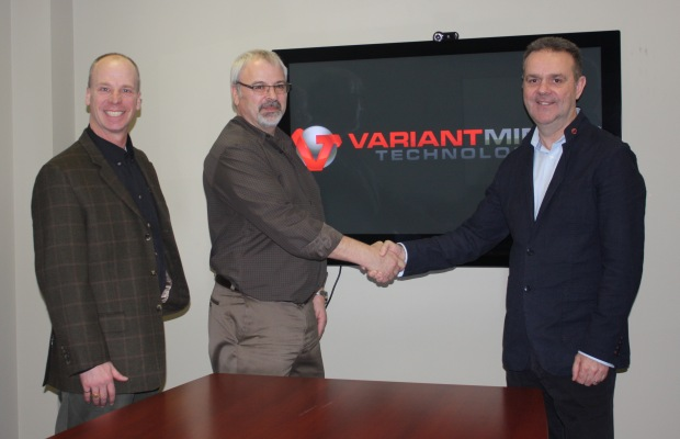 (Left-To-Right) VMT President Steve Matusch & General Manager, Paul Chamberland With Steve Gretton