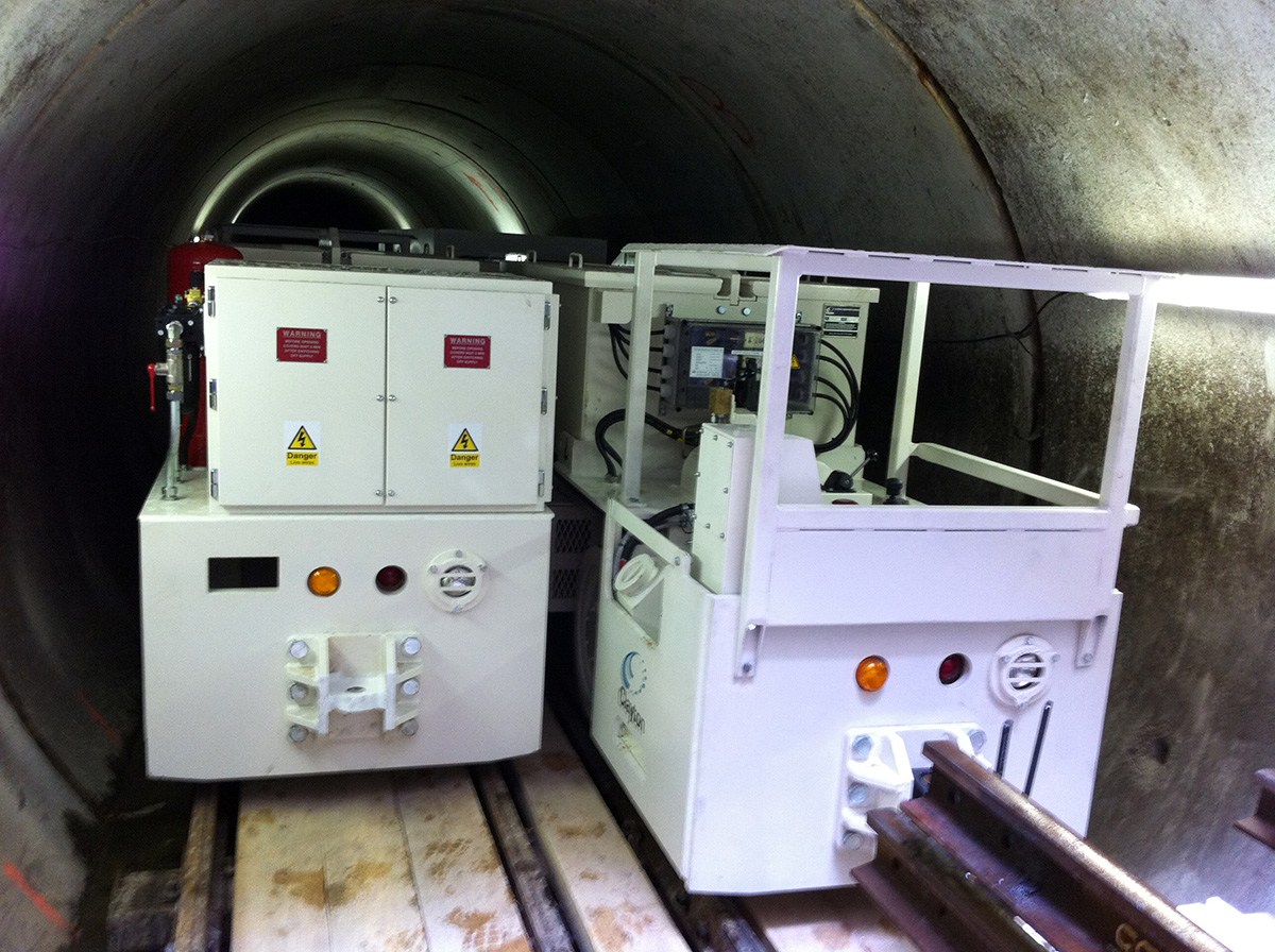 Clayton battery tunnel locomotives