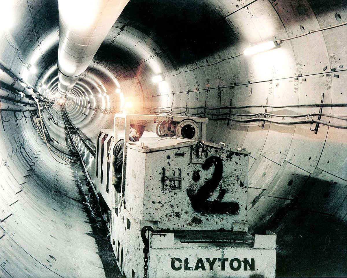 Clayton tunnel locomotive